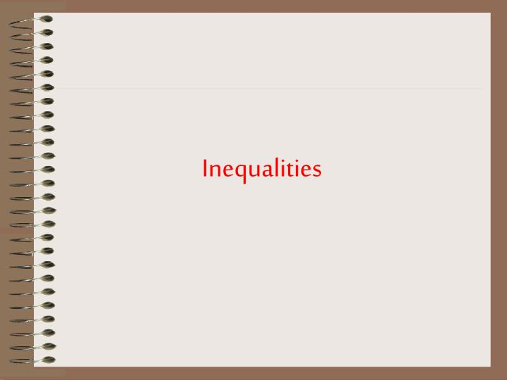 Inequalities