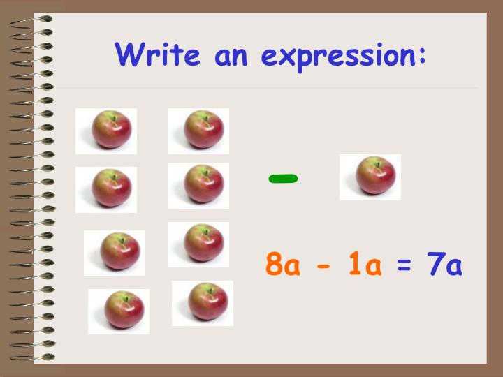 Write an expression: