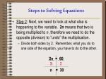 steps to solving equations1