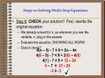 steps to solving multi step equations5