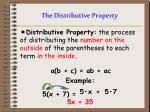 the distributive property1