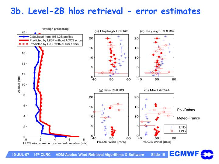 3b. Level-2B hlos retrieval - error estimates