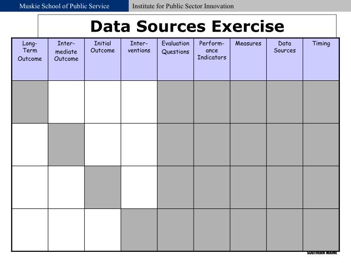 Data Sources Exercise