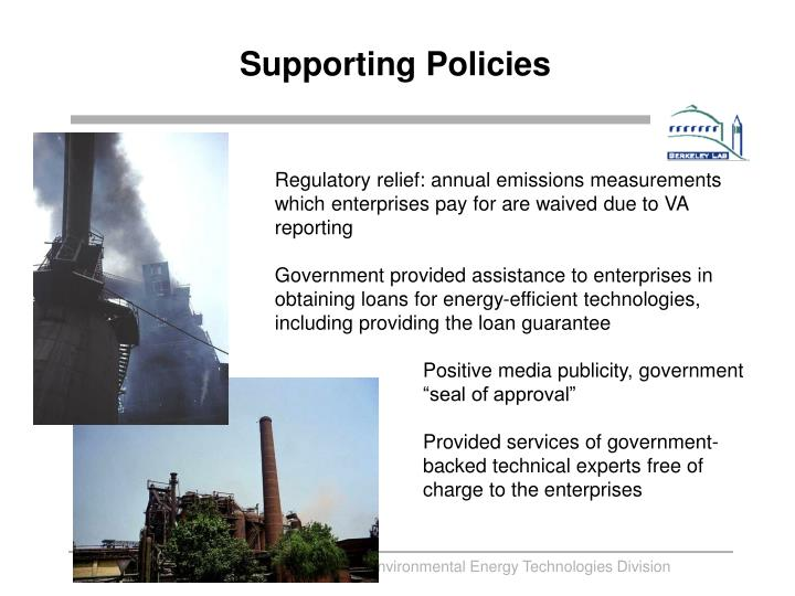 Supporting Policies