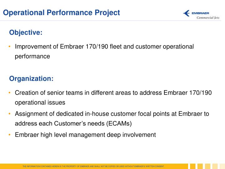 Operational Performance Project