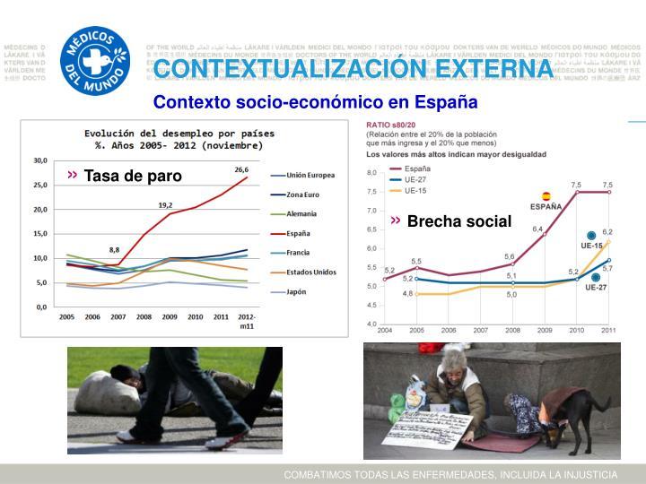 Contexto socio-económico en España