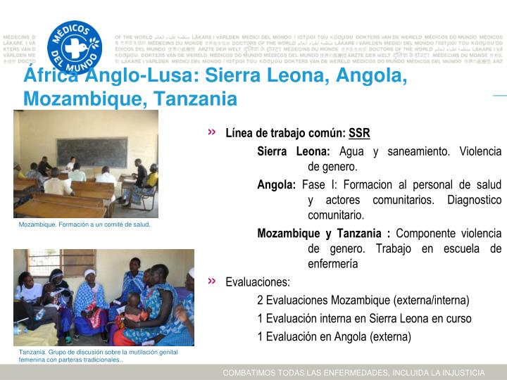 África Anglo-Lusa: Sierra Leona, Angola, Mozambique, Tanzania