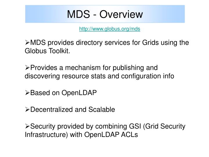 MDS - Overview