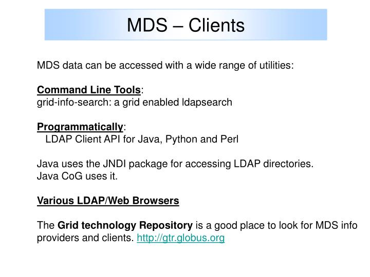 MDS – Clients