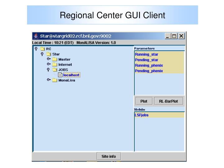 Regional Center GUI Client