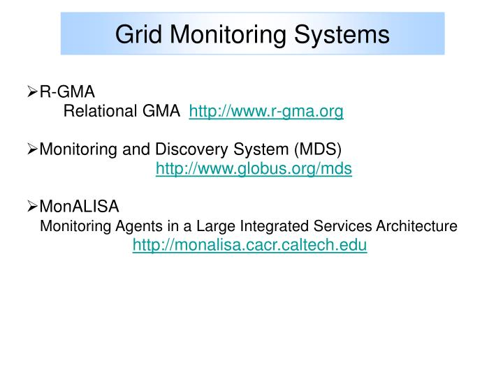 Grid Monitoring Systems