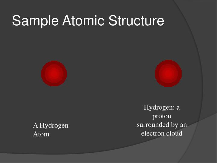 Sample Atomic Structure