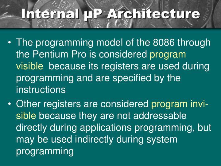 Internal µP Architecture