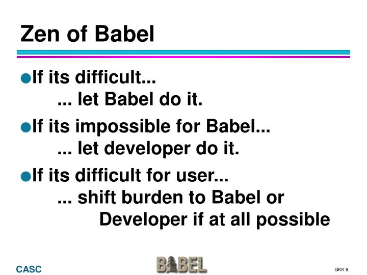 Zen of Babel