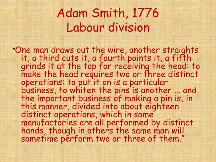 Adam Smith, 1776