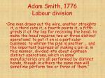 adam smith 1776 labour division