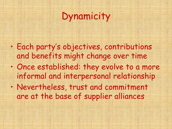 Dynamicity
