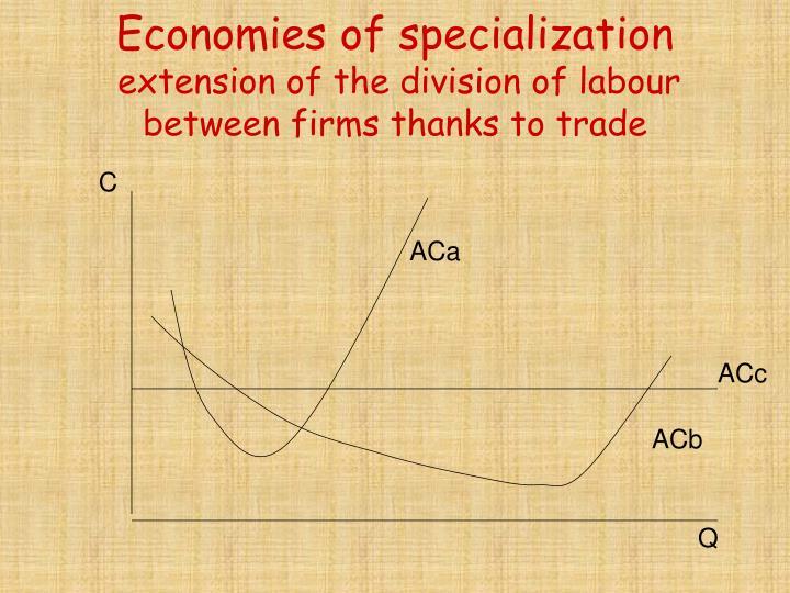 Economies of specialization