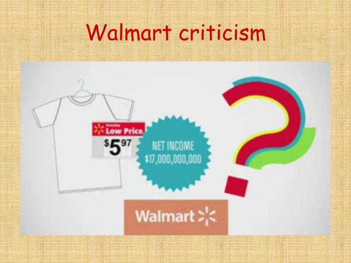 Walmart criticism