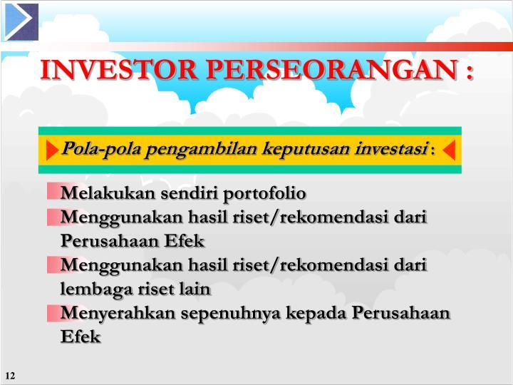 INVESTOR PERSEORANGAN :