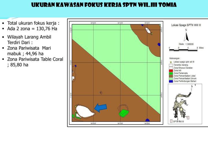 UKURAN KAWASAN FOKUS KERJA SPTN WIL.III TOMIA