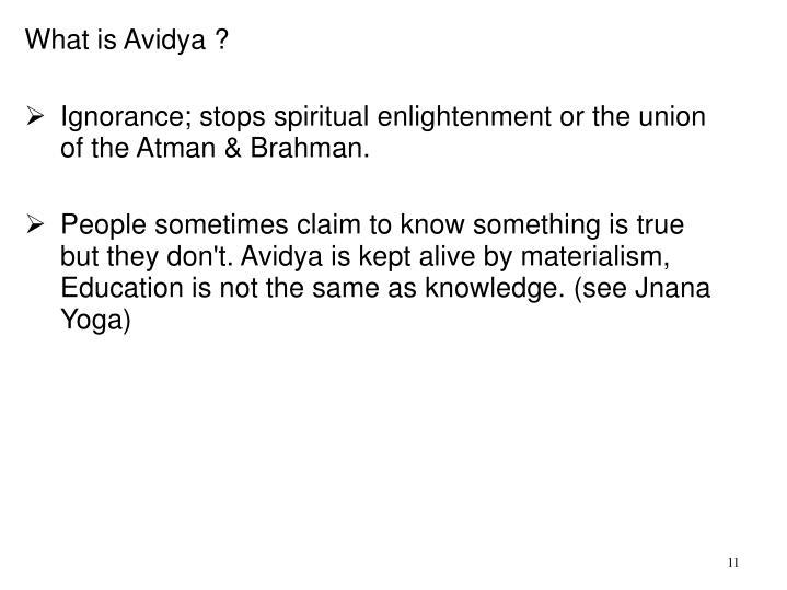 What is Avidya ?