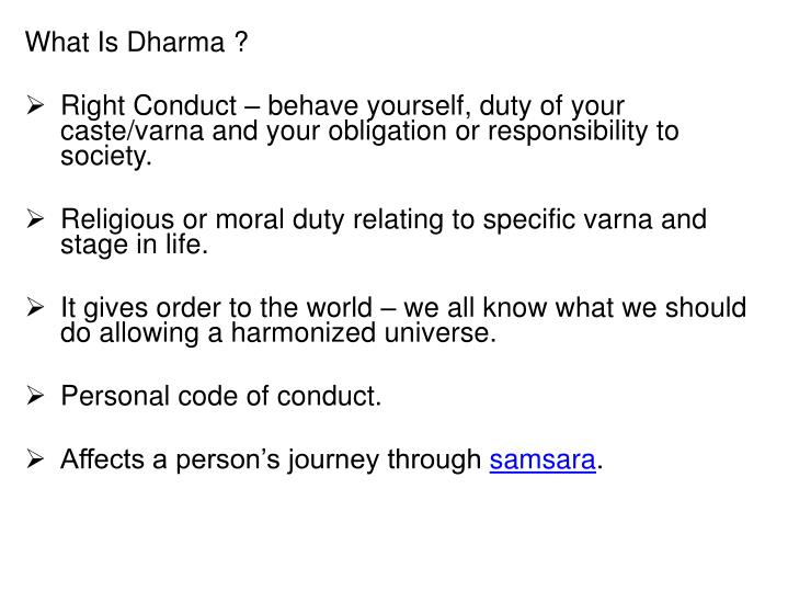 What Is Dharma ?