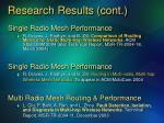 research results cont