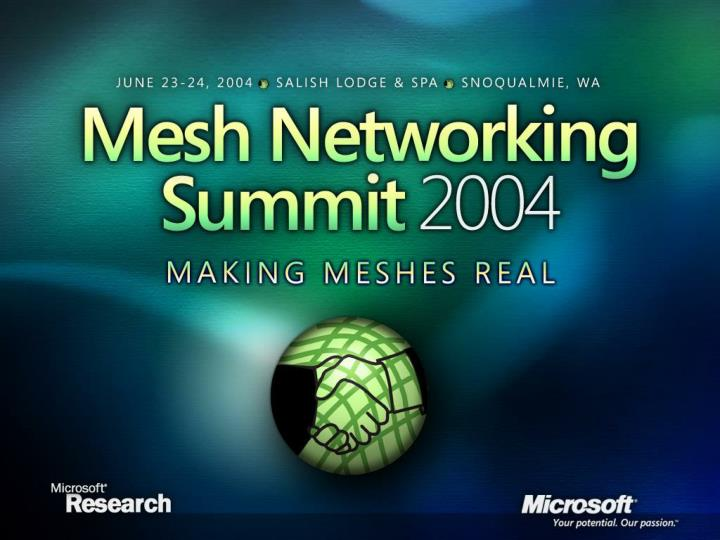 Mesh networking research microsoft mesh