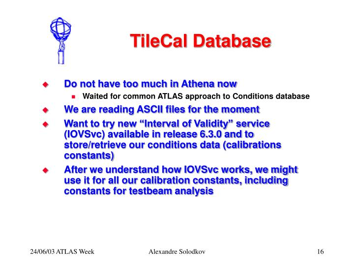 TileCal Database
