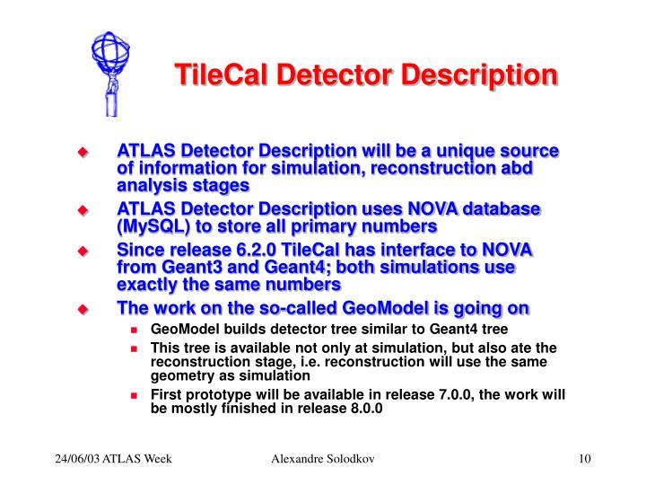 TileCal Detector Description