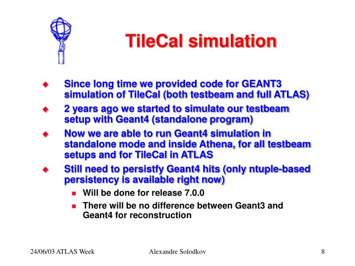 TileCal simulation