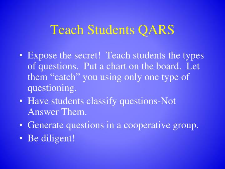 Teach Students QARS