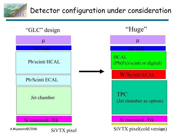 Detector configuration under consideration