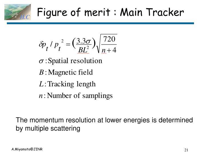 Figure of merit : Main Tracker
