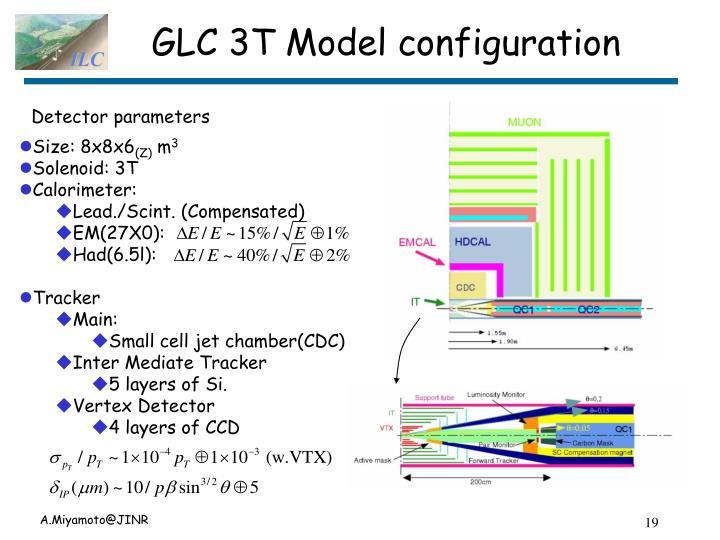 GLC 3T Model configuration