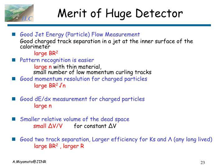 Merit of Huge Detector