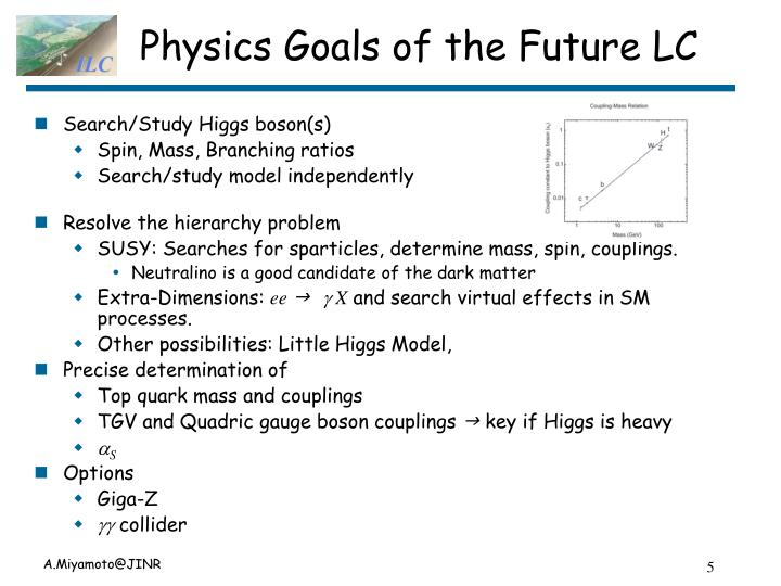 Physics Goals of the Future LC