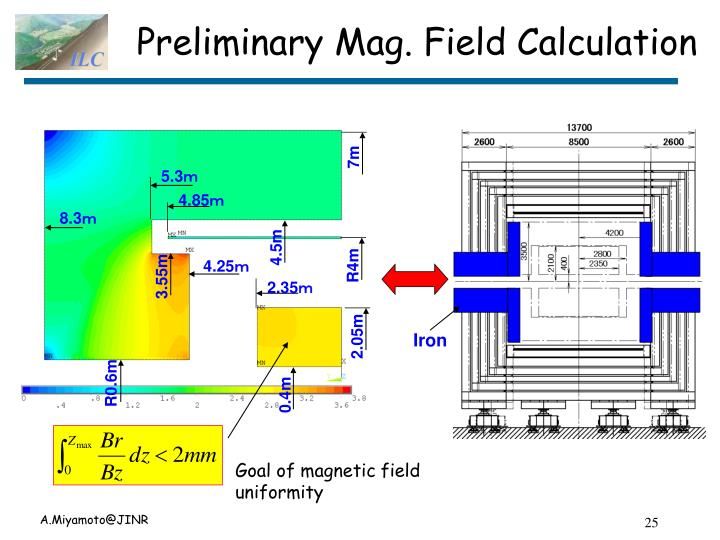 Preliminary Mag. Field Calculation