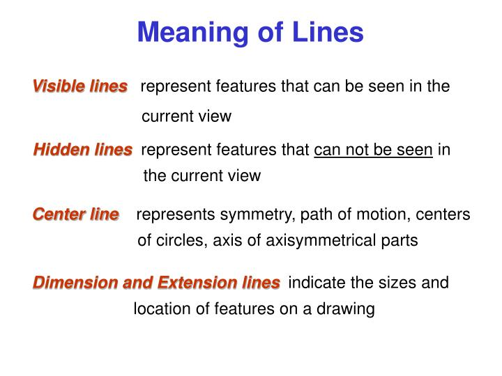 Meaning of Lines
