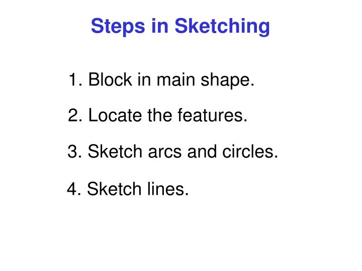 Steps in Sketching