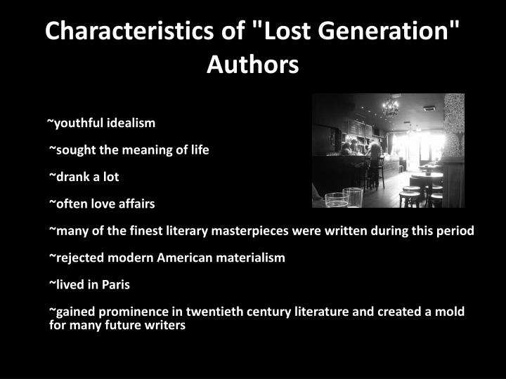 a comparison of the sun also rises by ernest hemingway and lost generation by t s eliot This year i've chosen #18 - the sun also rises by ernest hemingway from wikipedia: published in 1926, the plot centers on a group of expatriate americans and britons in continental europe during the 1920s.