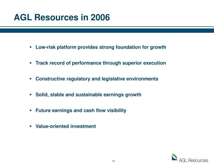 AGL Resources in 2006
