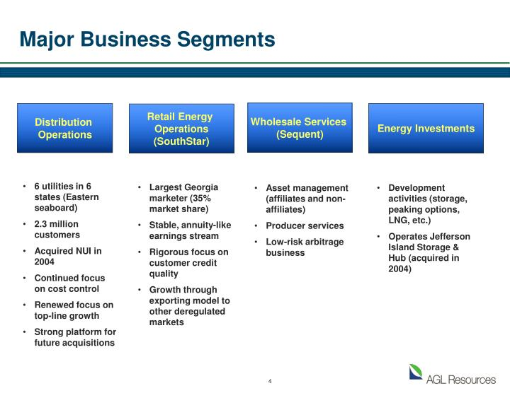 Major Business Segments