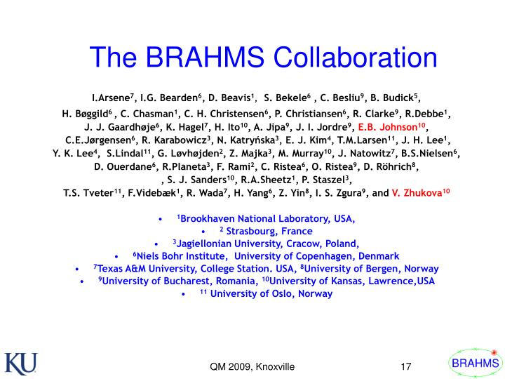 The BRAHMS Collaboration