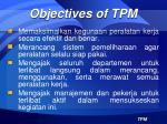 objectives of tpm