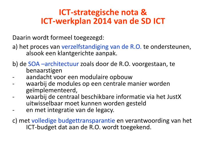 ICT-strategische nota &
