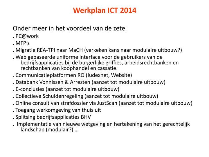 Werkplan ICT 2014