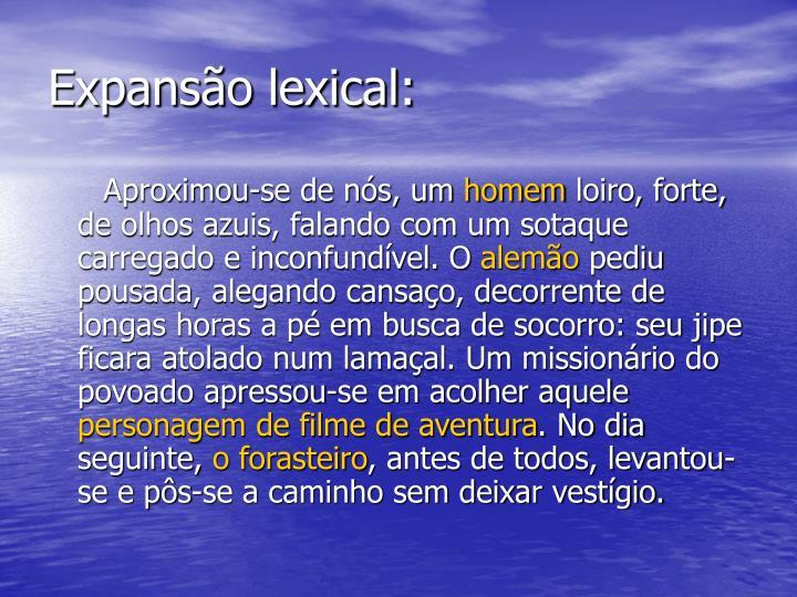 Expansão lexical: