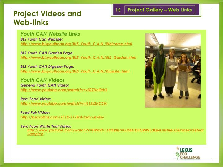 Project Gallery – Web Links